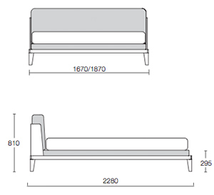 Assuan Bed Dimensions